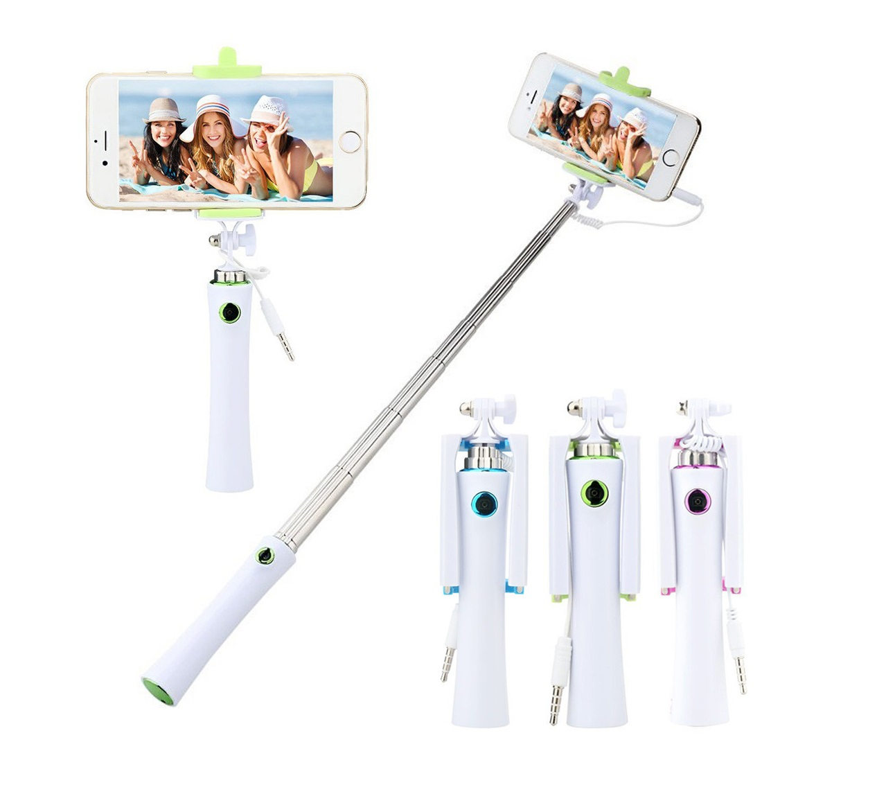 selfie tyč s tlačítkem